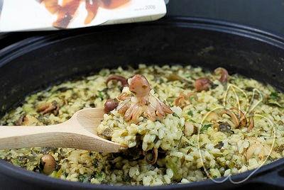 Arroz con pulpitos y alga wakamé (9)