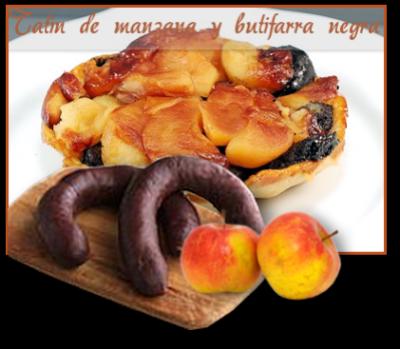 Tatín de manzana y butifarra