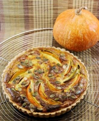 Tarta de calabaza, ricotta y pesto (3) - copia