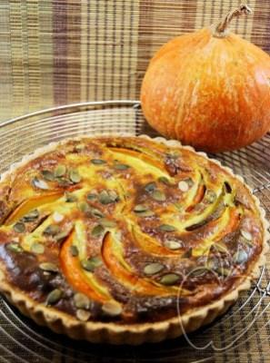 Tarta de calabaza, ricotta y pesto (4) - copia