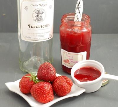 confiture de fraise vin blanc