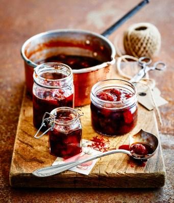 Strawberry and saffron jam