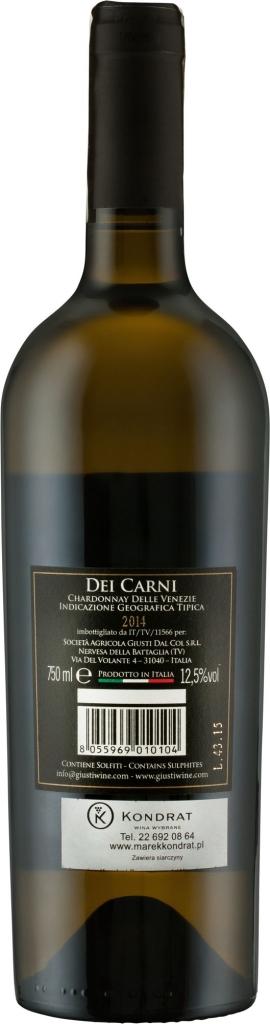 2157 Giusti Chardonnay Dei CarniTá Venezie IGT 2 small 271x1024 1