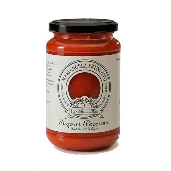 Sauce tomate aux poivrons bio Prunotto Épicerie Fine Grocery Store Tomates et Sauces Come à lÉpicerie Take Away Delivery Luxembourg 1
