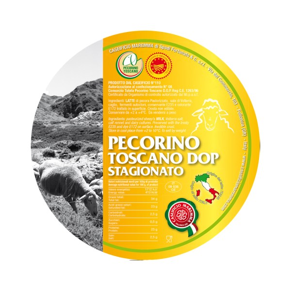 PECORINO TOSCANO D.O.P STAGIANATO Fromages Come a lepicerie Come Delivery Come a la Maison takeaway Delivery Luxembourg 2