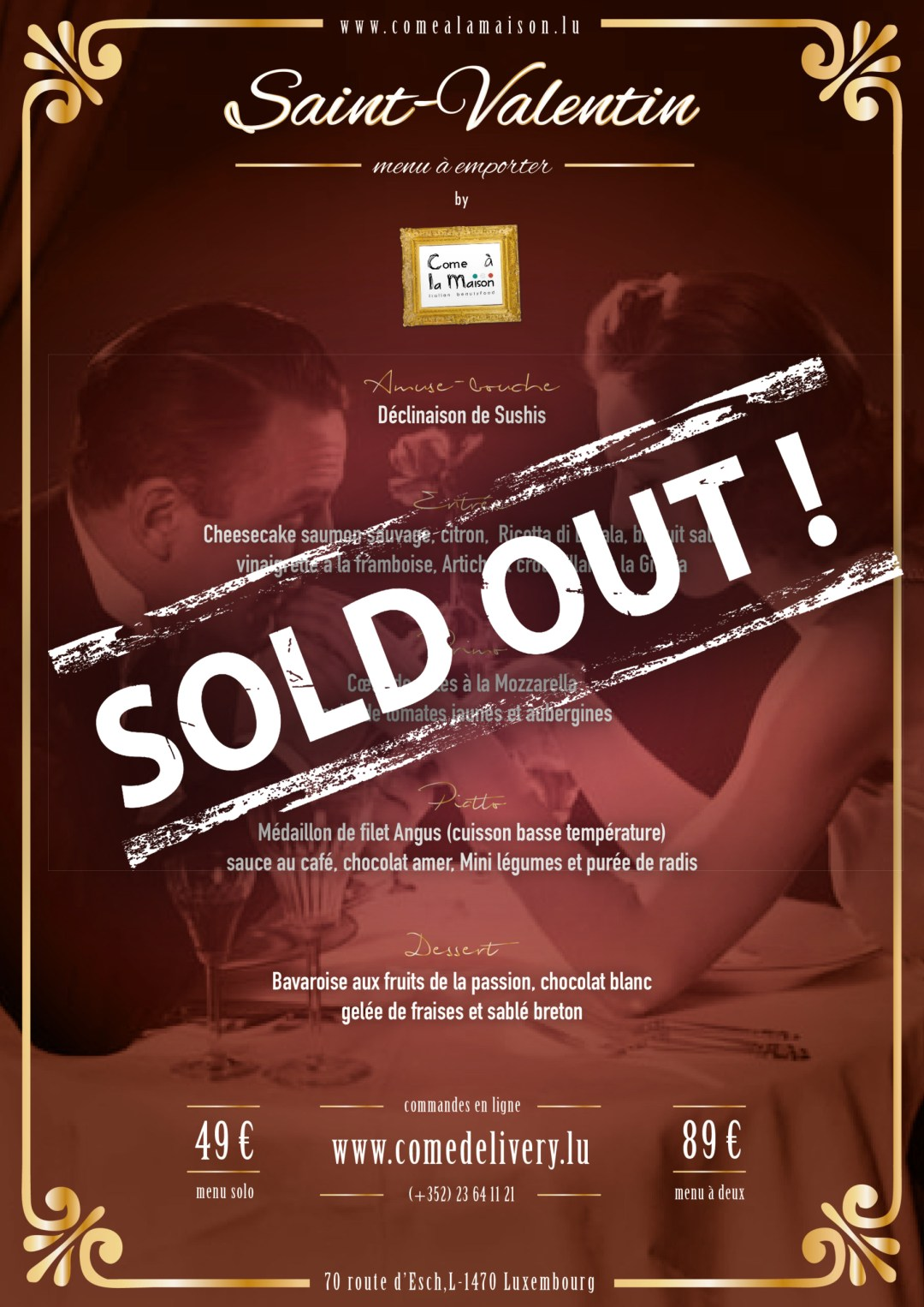 MENU SOLD OUT