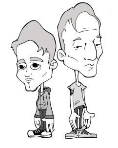 Brenton Biddlecomb & Harry Moroz (Comedians, Tour Sticker)