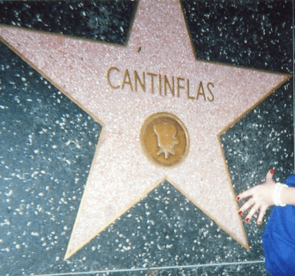 Cantinflas star on walk of fame.