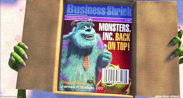 Monsters Inc. Mike Wazowski magazine cover.