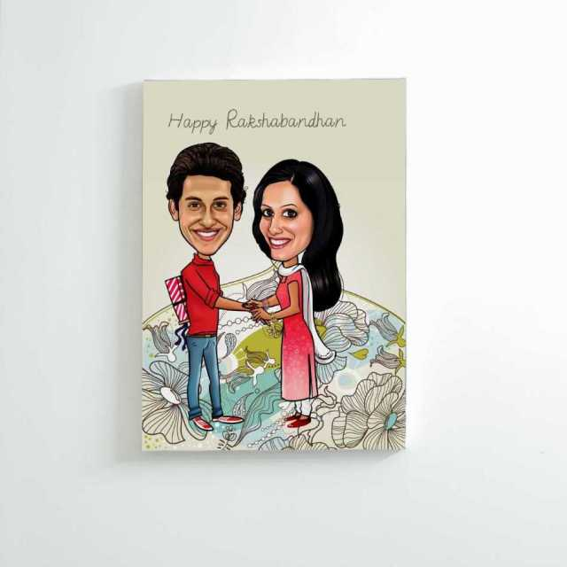Caricature Canvas for Brother and Sister