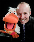 comedy ventriloquist Tom Crowl with Dangerous Duck