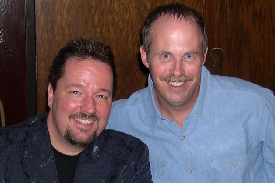 ventriloquist Terry Fator and ventriloquist Tom Crowl