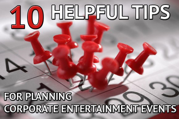 planning corporate entertainment events