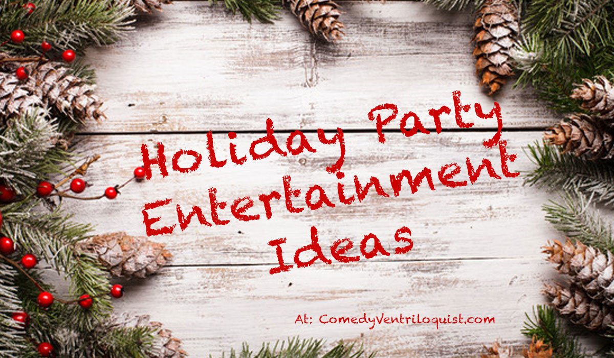 Christmas party with scale and entertainment