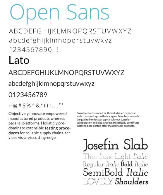 web design trends - fonts