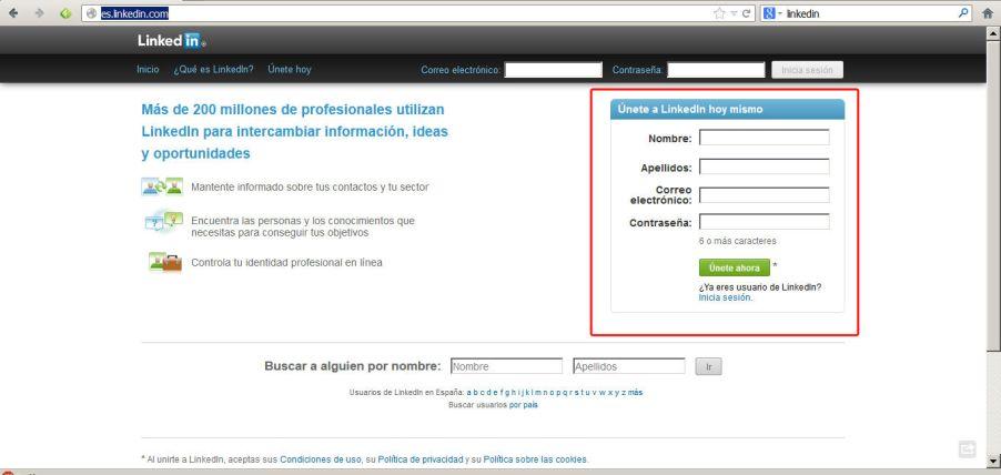 crear perfil en linkedin