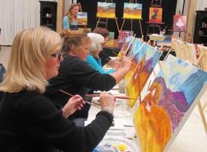 Students enjoy paint class