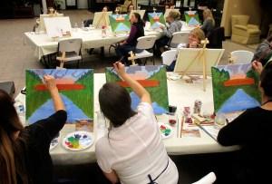 Bridgeport covered bridge painting class