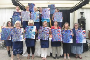 Feather beauties in acrylic painting & wine class