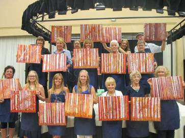 Beautiful birch tree paint and wine class results