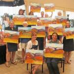 Star barn paint and wine class in Grass Valley CA