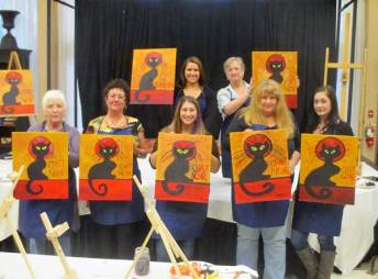 Grass Valley Chat Noir paint and wine class