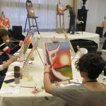 Artistic flow in acrylic paint & wine class Grass Valley CA