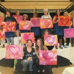 Hearts shine in paint class