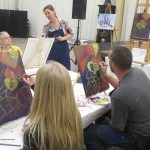 Teacher guided painting classes in Grass Valley CA