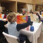 Painting class brings out the best in students