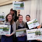 Tahoe shore watercolor class