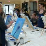 Painting class acrylic Dandelion