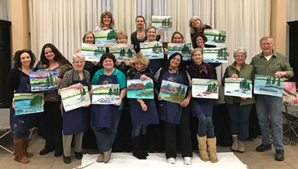 Happy Tahoe shores painting group
