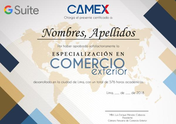 certificacion especializacion comercio exterior