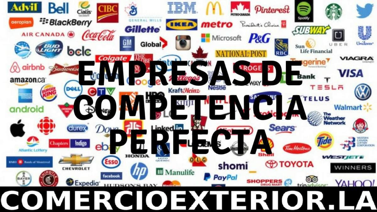 ✅ Empresas de Competencia Perfecta y su relación con la dinámica Comercial