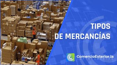 tipos de mercancias en el comercio exterior