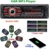 X-REAKO Radio Coche Autoradio Bluetooth Apoyo de Reproductor MP3 Llamadas Manos Libres Radio FM Soporte Control Remoto del Volante, Carga rapida