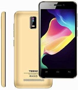 4.0 Pulgadas Telefono 4G Movil Libre HD IPS 1GB RAM 8GB ROM Dual SIM Dual Cámara (Oro) TEENO