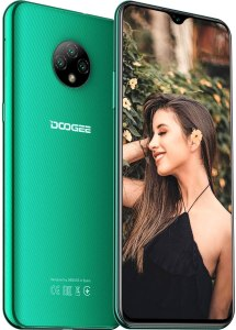 Moviles Libres, DOOGEE X95 Smartphone Libre 2020, 6.52 Pulgadas 19.5:9 HD+ Pantalla 4G Telefonos, 4350mAh, 13MP+2MP+2MP+5MP, Android 10.0 Smartphone, 16GB ROM,128GB SD, Dual SIM Face ID, Verde