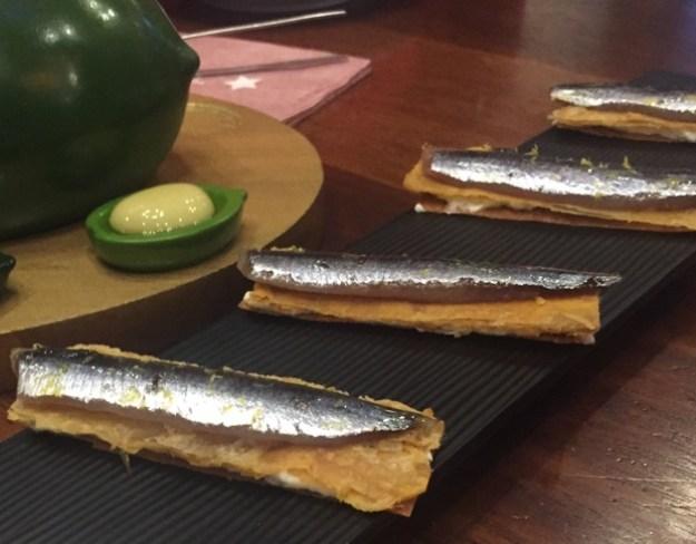 Tostada de boquerón marinado con sal de anchoa