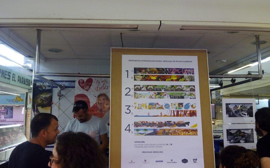 Fotos de la presentació del Projecte Art Urbà al Mercat Rojas Clemente