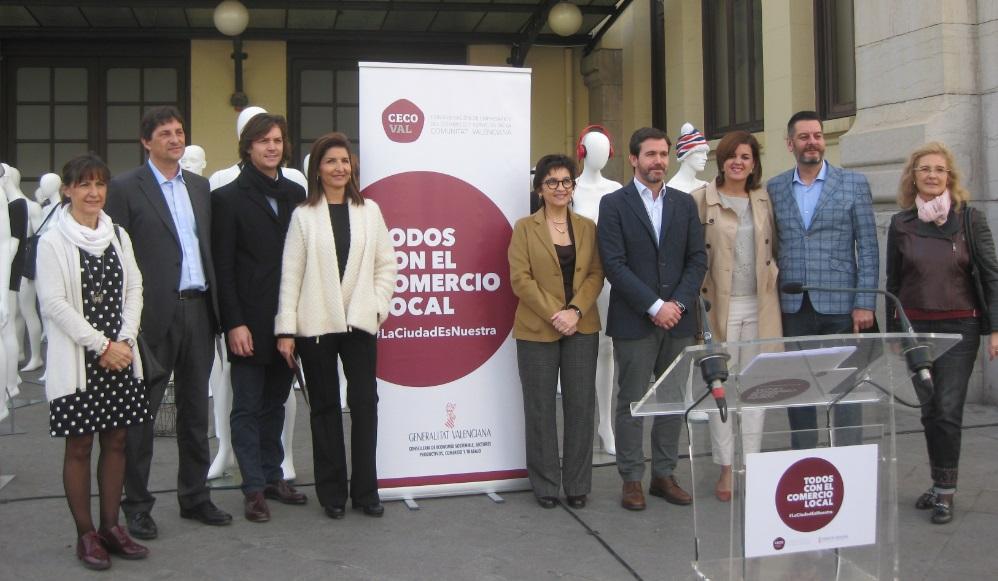 """CECOVAL presenta la campaña """"Todos con el comercio local"""""""