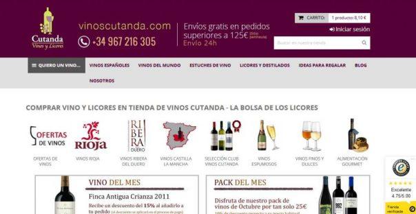 La bolsa de los licores - Vinos Cutanda