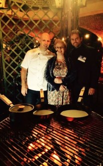 Me with Chef Adam Gray and presenter/musical theatre star Craig Price. Image Courtesy of Craig Price.