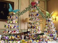 Flower Fairy Cakes Exhibition, The Old Dining Room Mottisfont made by the Mottisfont House Team