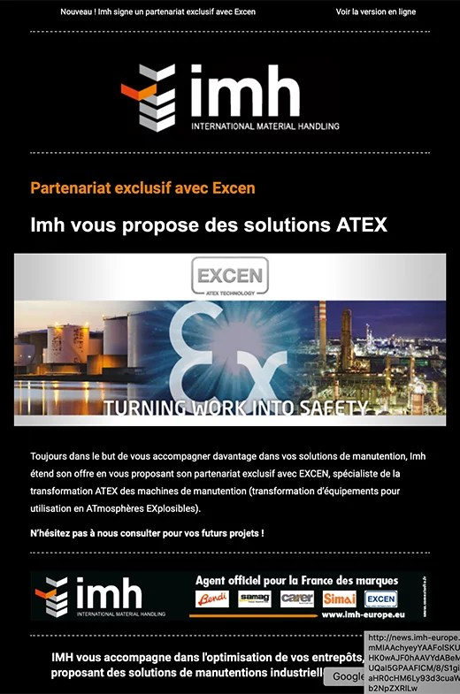 Newsletter Excen pour Imh