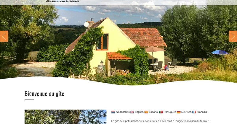 Site web «Aux Petits Bonheurs»