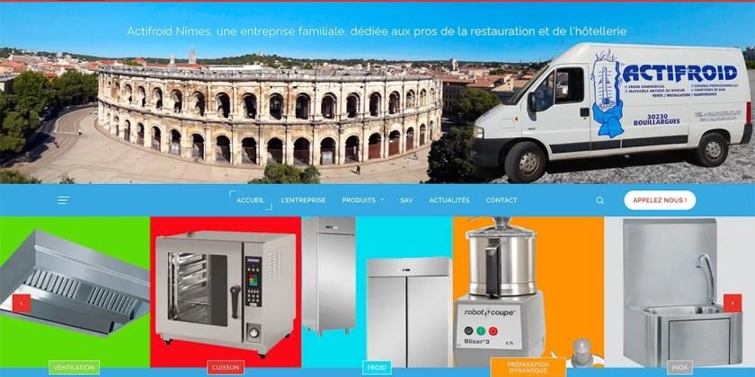 Création d'un site web pour Actifroid Nîmes