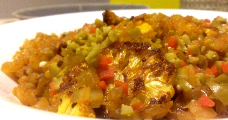 Bifes de Couve-flor assados e cheios de sabor