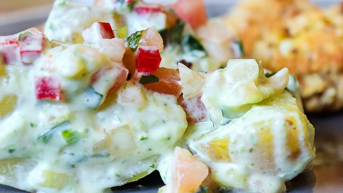 salada de batata vegana fresca acompanhamento verao